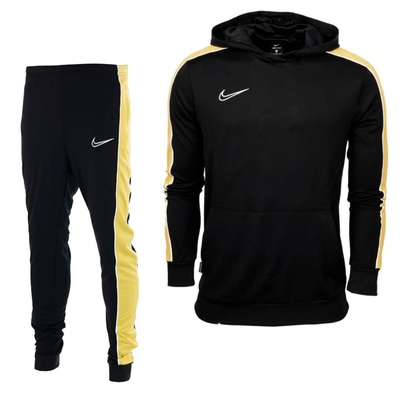 Nike Dry Academy Trainingspak Kids Zwart Goud Wit