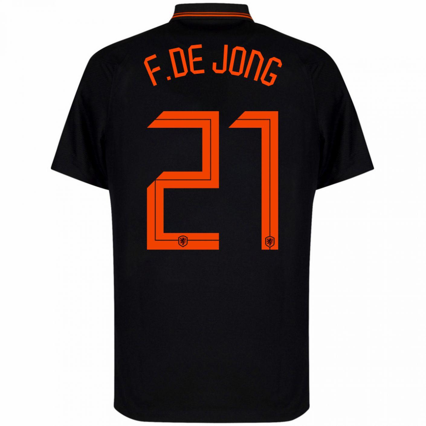 Nike Nederland F. de Jong 21 Uitshirt 2020-2022