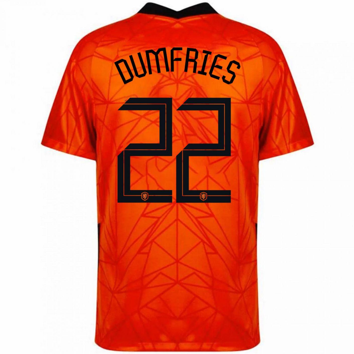 Nike Nederland Dumfries 22 Thuisshirt 2020-2022 Kids