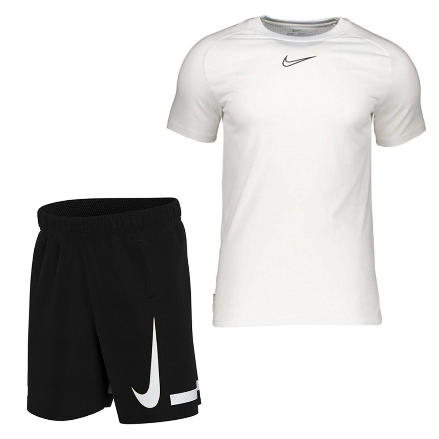 Nike Dry Academy Trainingsset Wit Zwart