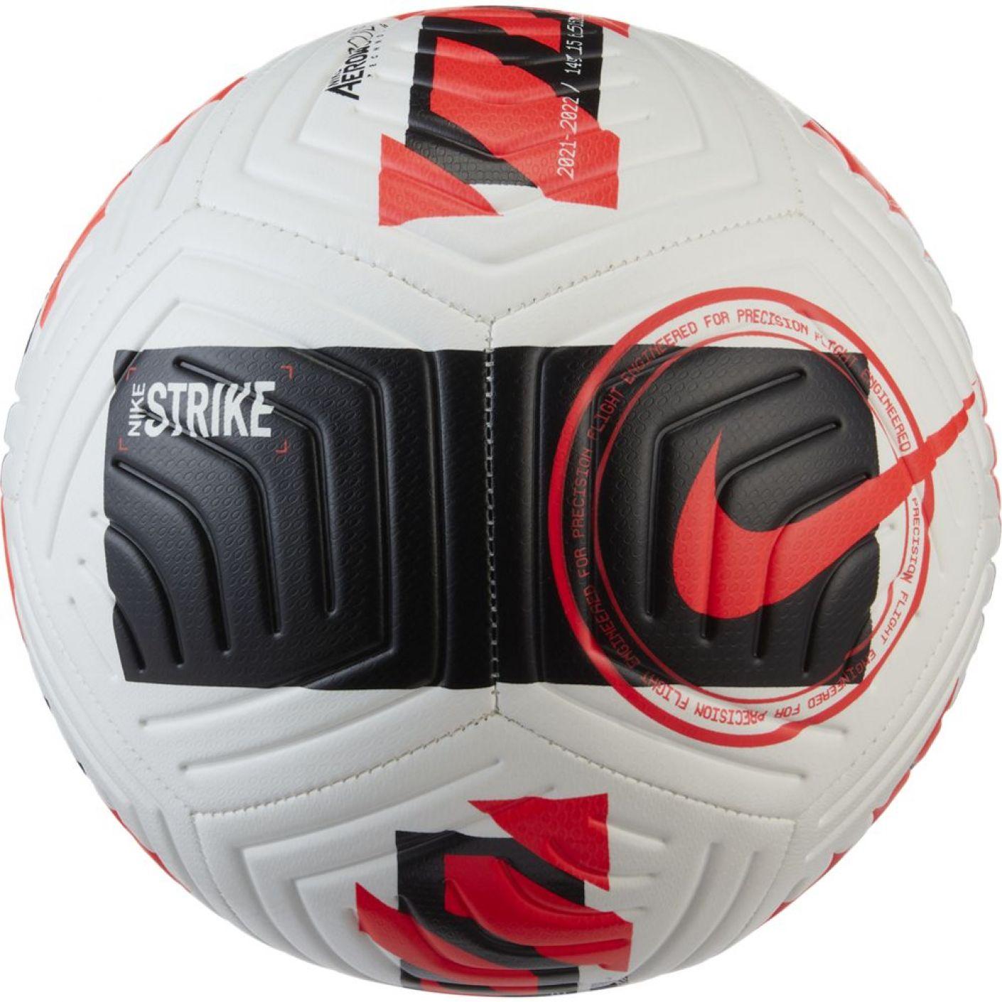 Nike Strike Voetbal Maat 5 Wit Zwart Felrood