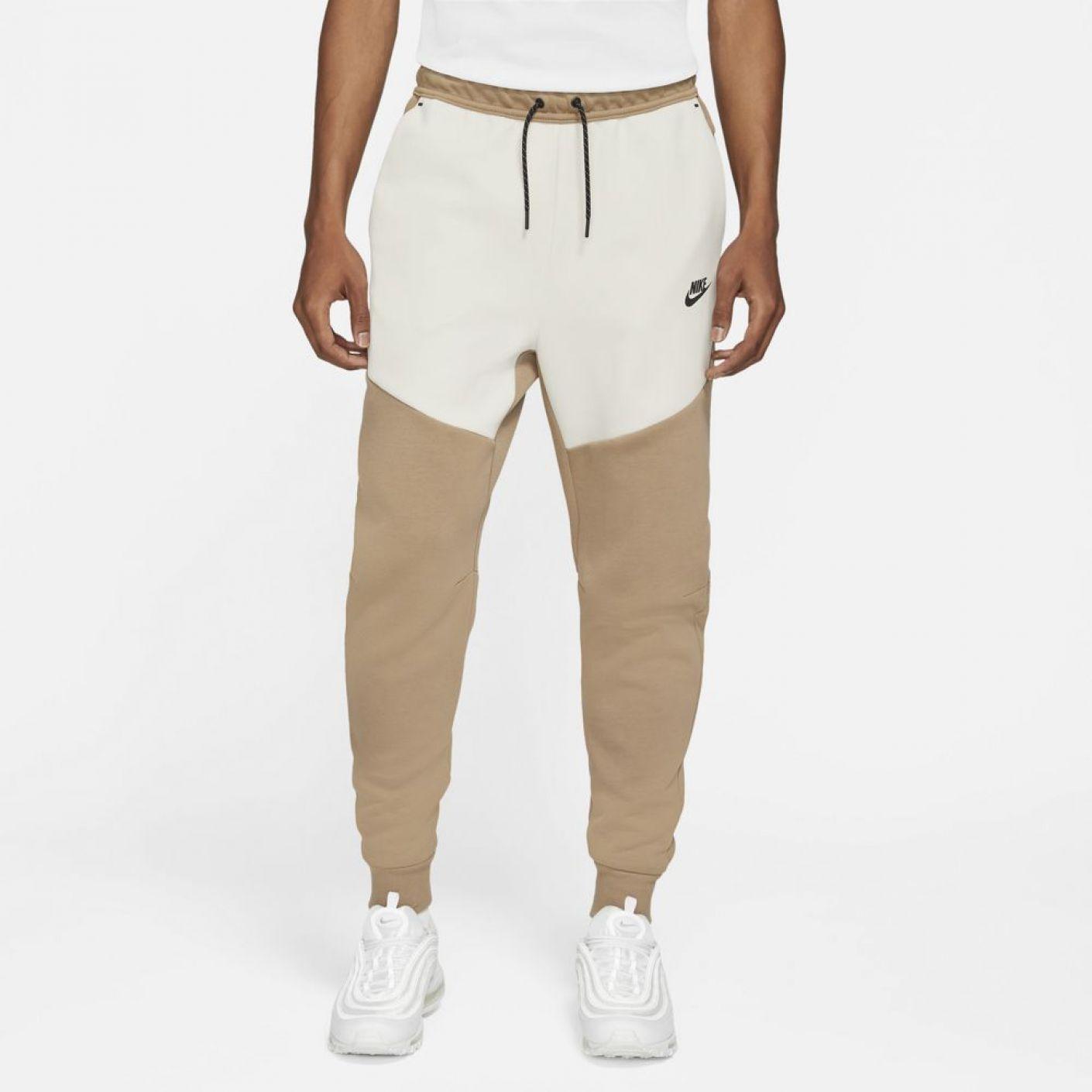Nike Tech Fleece Broek Bruin Wit Zwart