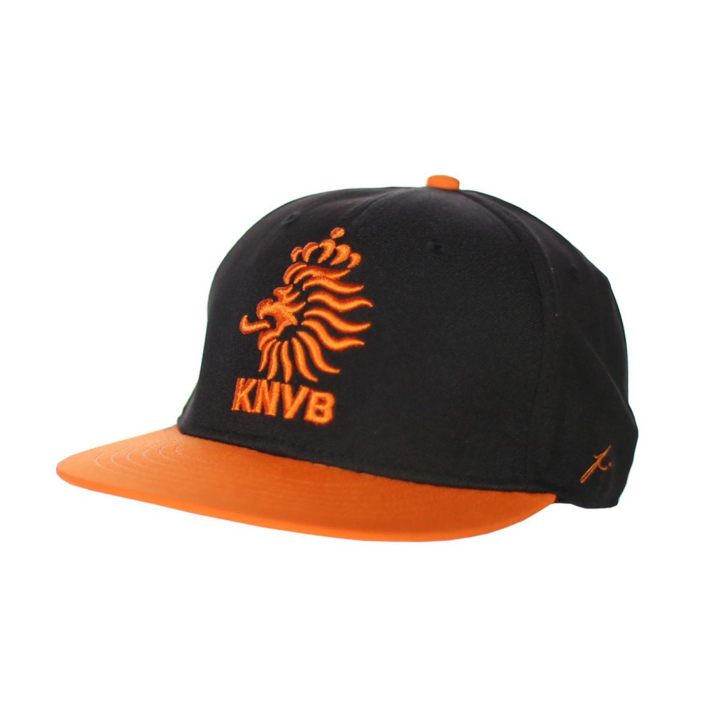 KNVB Cap Black Orange Adjustable