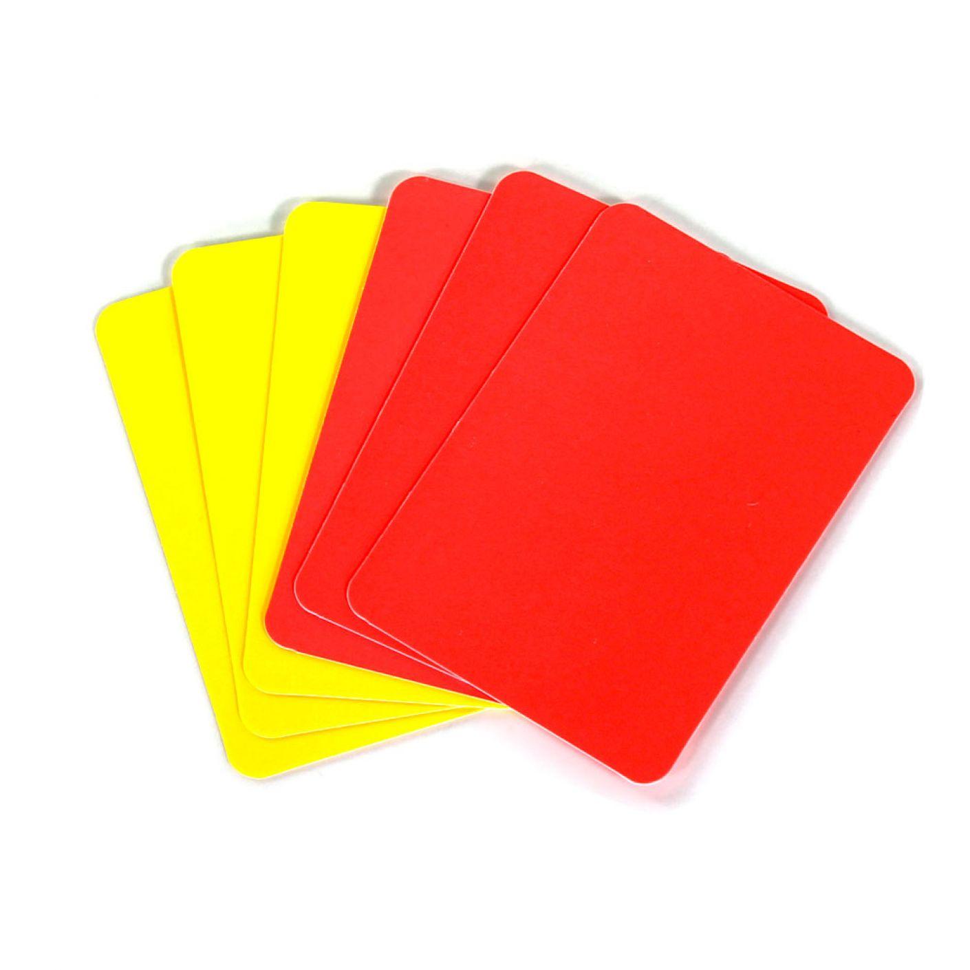 Set Kaarten 3 Geel en 3 Rood