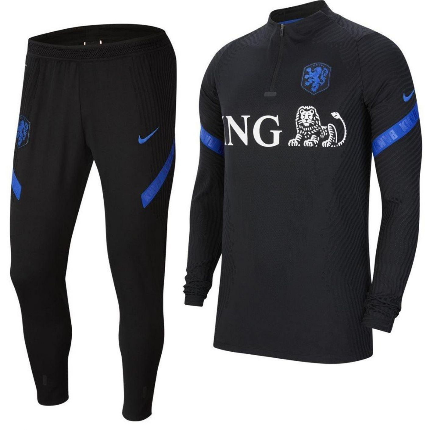 Nike Nederland VaporKnit Strike Trainingspak 2020-2022 Zwart Blauw