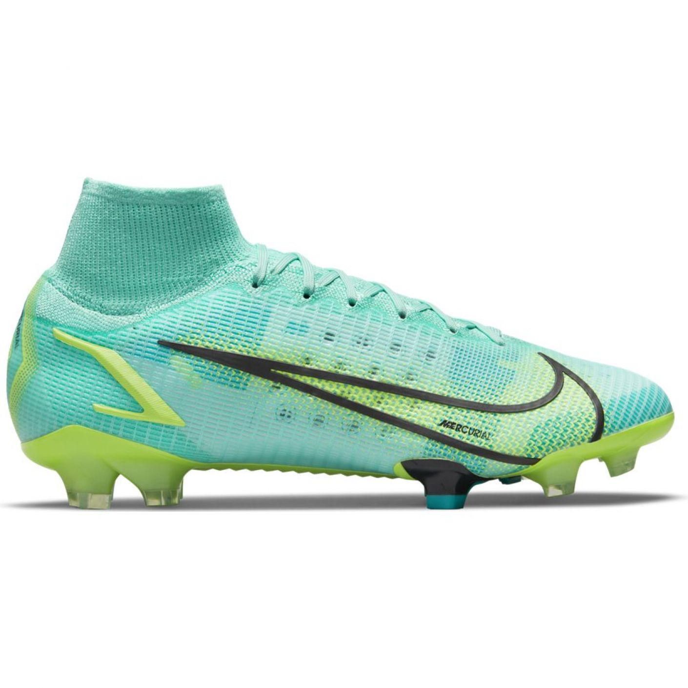 Nike Mercurial Superfly 8 Elite Gras Voetbalschoenen (FG) Turquoise Lime