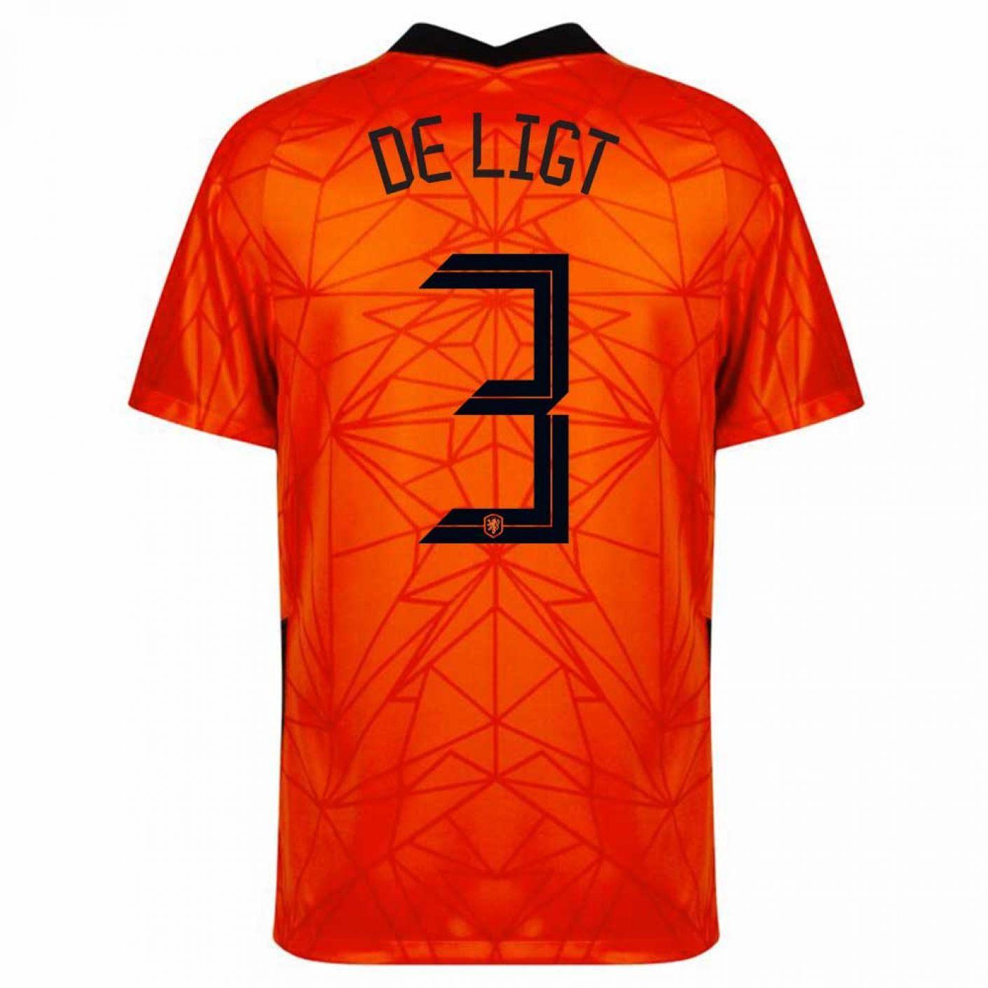 Nike De Ligt 3 Nederland Thuisshirt 2020-2022