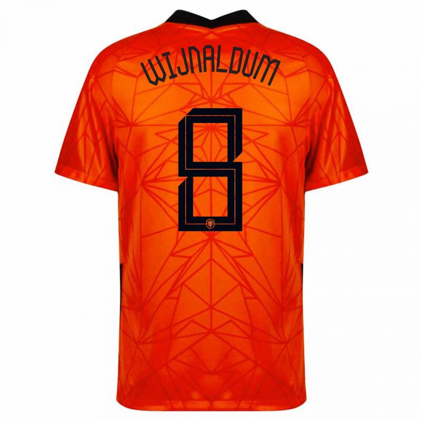 Nike Wijnaldum 8 Nederlands Elftal Thuisshirt Kids 2020-2022
