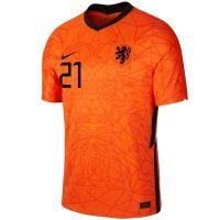 Nike F. de Jong 21 Nederland Thuisshirt 2020-2022