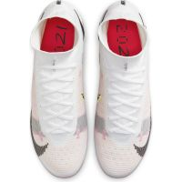 Nike Mercurial Superfly 8 Elite Gras Voetbalschoenen (FG) Wit Zwart Rood Roze