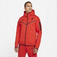 Nike Liverpool Tech Fleece Hoodie Full-Zip 2021-2022 Rood Zwart