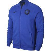 Nike Nederland GFA Fleece Trainingsjack 2020-2022 Blauw