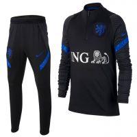Nike Nederland Dry Strike Trainingspak 2020-2022 Kids Zwart Blauw