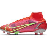 Nike Mercurial Superfly 8 Elite Gras Voetbalschoenen (FG) Rood Zilver