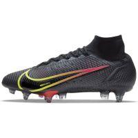 Nike Mercurial Superfly 8 Elite Ijzeren-Nop Voetbalschoenen Anti-Clog (SG) Zwart Geel