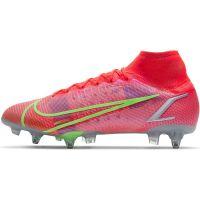 Nike Mercurial Superfly 8 Elite Ijzeren-Nop Voetbalschoenen Anti-Clog (SG) Rood Zilver