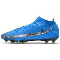 Nike Phantom GT Elite DF Gras Voetbalschoenen (FG) Blauw Zilver Groen