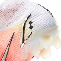 Nike Mercurial Superfly 8 Elite MDS Gras Voetbalschoenen (FG) Wit Zilver Oranje