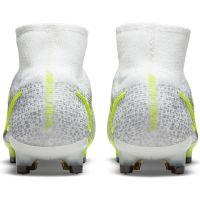 Nike Mercurial Superfly 8 Elite Gras Voetbalschoenen (FG) Wit Zwart Zilver Geel