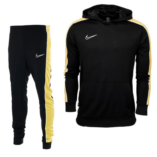 Nike Dry Academy Tracksuit Kids Black Gold White