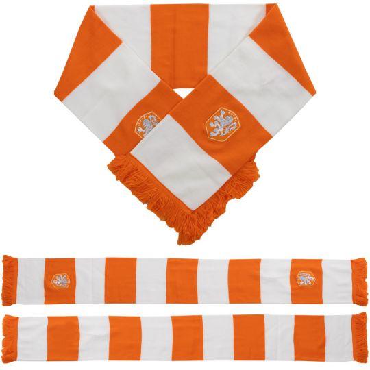 KNVB sjaal blokken oranje wit
