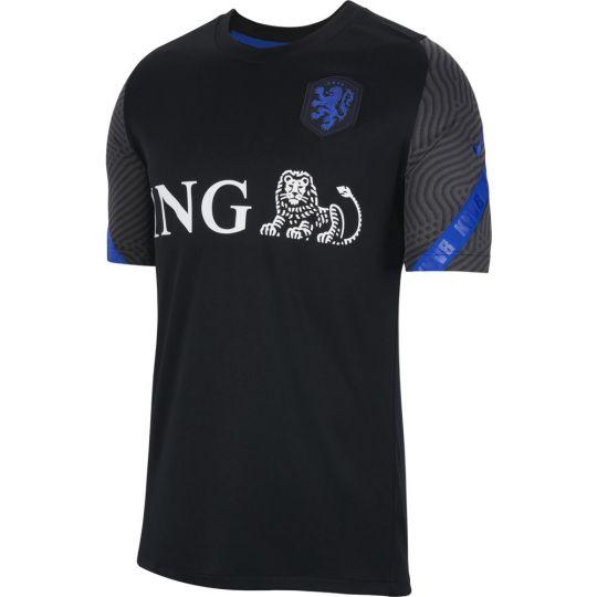 Nike Nederland Strike Trainingsshirt 2020-2022 Zwart