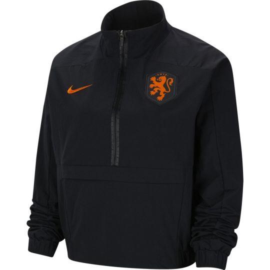 Nike Nederland 1/4 Zip Trainingstrui 2020-2022 Dames Zwart