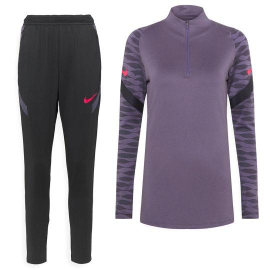 Nike Strike 21 Trainingspak Vrouwen Paars Zwart
