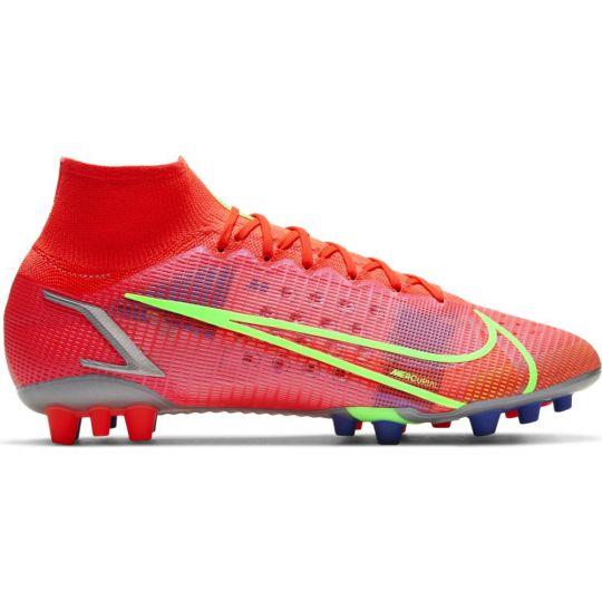 Nike Mercurial Superfly 8 Elite Kunstgras Voetbalschoenen (AG) Rood Zilver