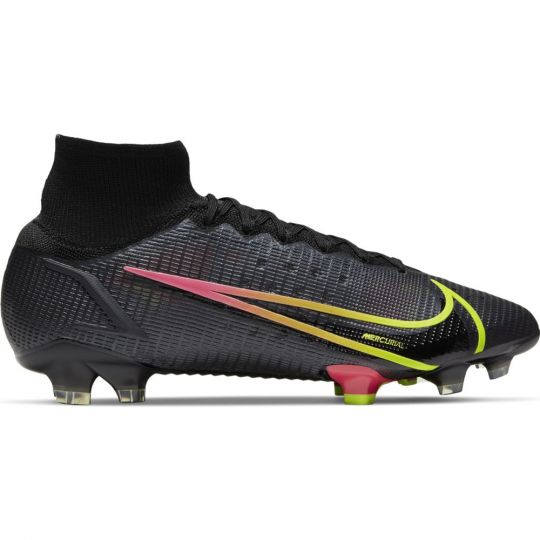 Nike Mercurial Superfly 8 Elite Grass Football Boots (FG) Black Yellow