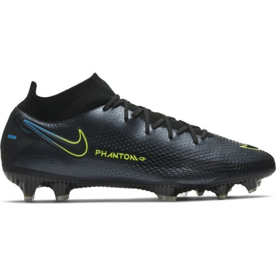 Nike Phantom GT Elite DF Gras Voetbalschoenen (FG) Zwart Geel Blauw