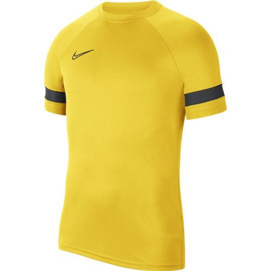 Nike Trainingsshirt Academy 21 Geel Zwart
